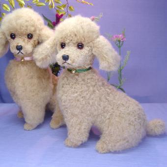 Ranran Poodles Poodle Plush Dog Toy Poodle Classy Quality Plush