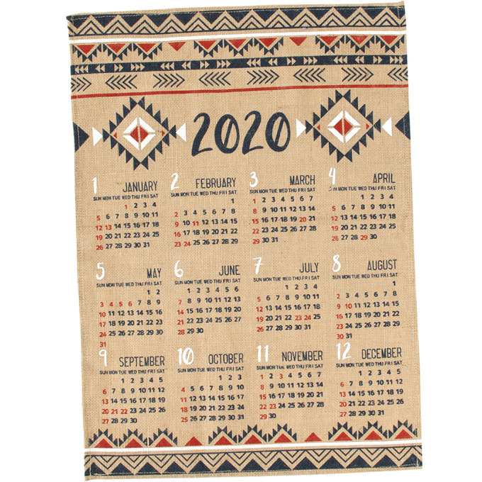 2020年版 ジュート カレンダー アステカ