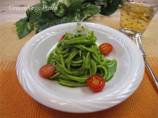 green vege pasta