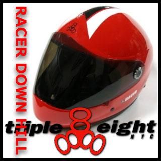 TRIPLE EIGHT RACER HELMET RED