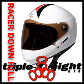 TRIPLE EIGHT RACER HELMET WHITE