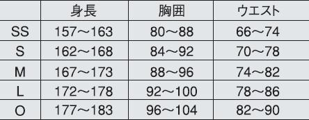 ヨネックス ウェア サイズ表