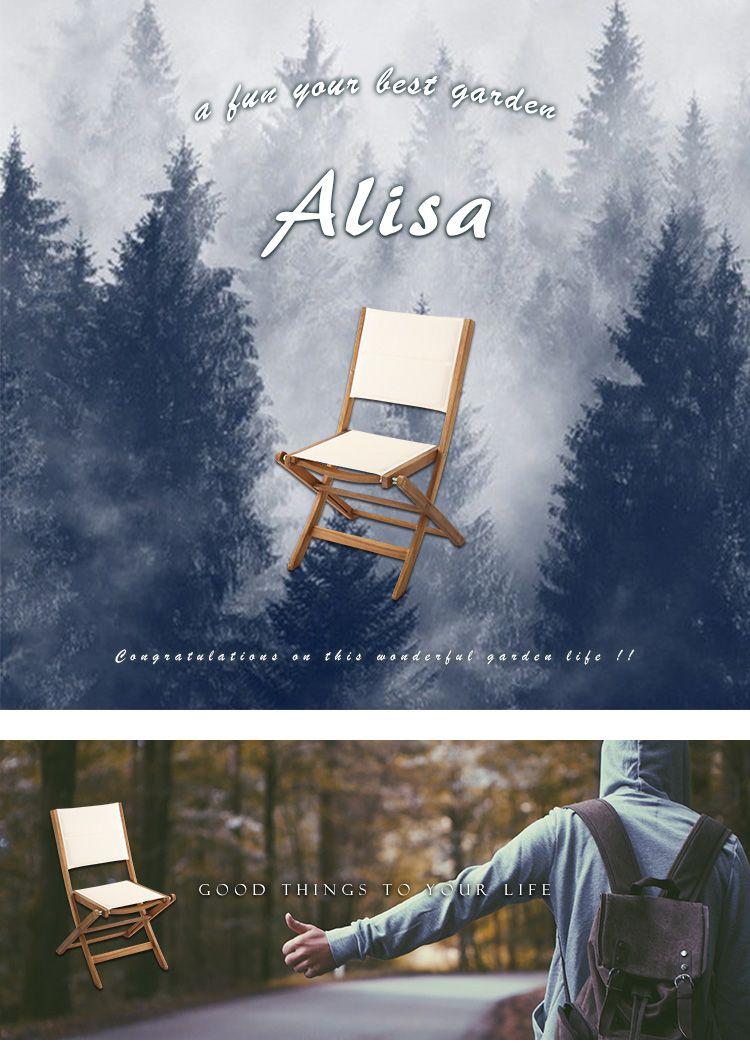 人気の折りたたみガーデンチェア(2脚セット)アカシア材を使用 | Alisa-アリーザ-