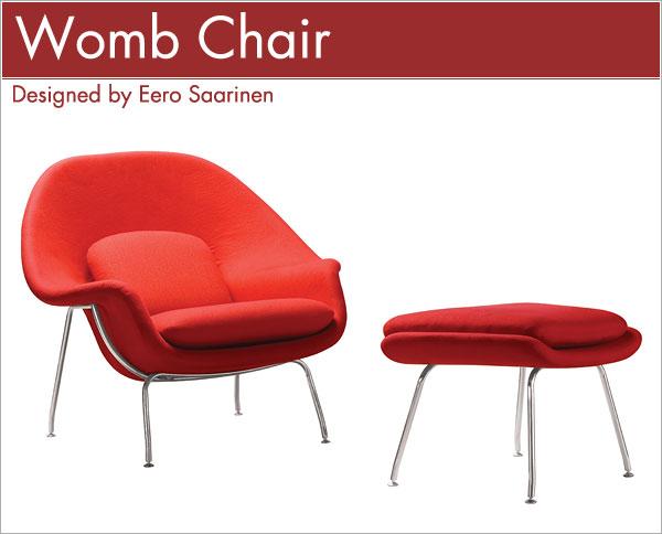 ウームチェア&オットマン Eero Saarinen Womb Chair Ottoman エーロ・サーリネン