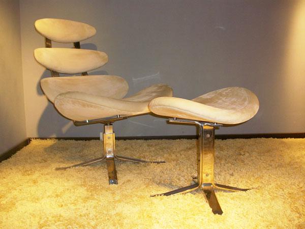コロナチェア Poul M. Volther Corona Chair ポール・M・ヴォルター 総本革