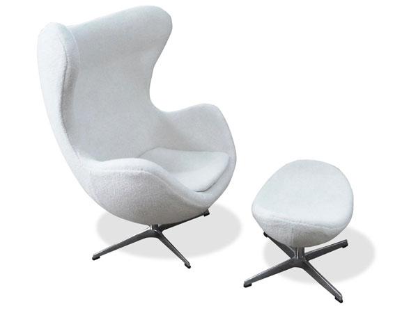 エッグチェア オットマン Arne Jacobsen Egg Chair&Ottoman アルネ・ヤコブセン ファブリック