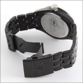 ヴィヴィアンウエストウッド ハイポリッシュシルバー&ブラック・カラーのスポーティーフェイス・ウオッチ VV007SLBK