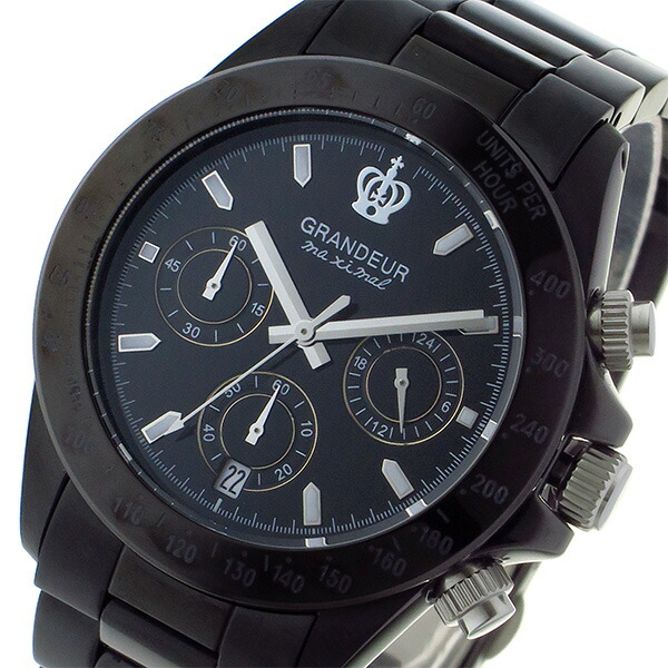 11d2c20b8b グランドール GRANDEUR 日本製 made in japan クロノグラフ クオーツ メンズ ウォッチ 時計 ブラック.  GRANDEUR(グランドール)は、一つ一つ入念に造られた造形美と ...
