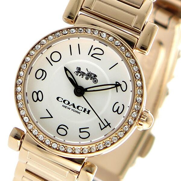 7b6bd46c7d コーチ COACH マディソン クオーツ レディース ウォッチ 時計 ホワイト  1941年、ニューヨーク?マンハッタンで皮革小物工房として設立されたCOACHは、美しいデザイン ...