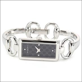【GUCCI】グッチ レディス 腕時計 トルナブォーニ コレクション GGインデックスに4Pダイヤモンド YA119506