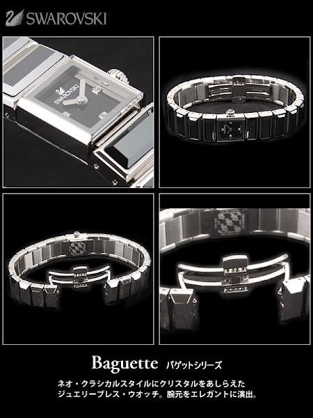 【Baguette(バゲット)】シリーズ:ネオ・クラシカルスタイルにクリスタルをあしらえたジュエリーブレス・ウオッチ。腕元をエレガントに演出。