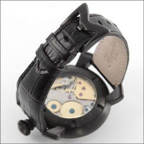 ガガミラノ MANUALE 48MM ブラックPVD (マヌアーレ) 独特の洗練されたデザインが魅力 注目人気ウオッチ5012.03S 5012.3S