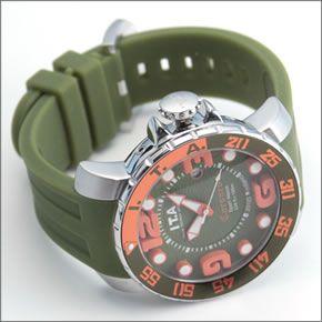 アイ・ティー・エー Corsaro(コルサロ) 人気モデル 美麗な3Dダイヤル。ラバーストラップ腕時計 13.01.09