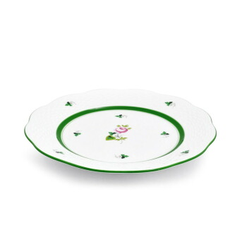 ヘレンド HEREND VRH 00517000 ウイーンの薔薇 デザートプレート 皿 19cm VIEILLE ROSE D'HABSBOURG