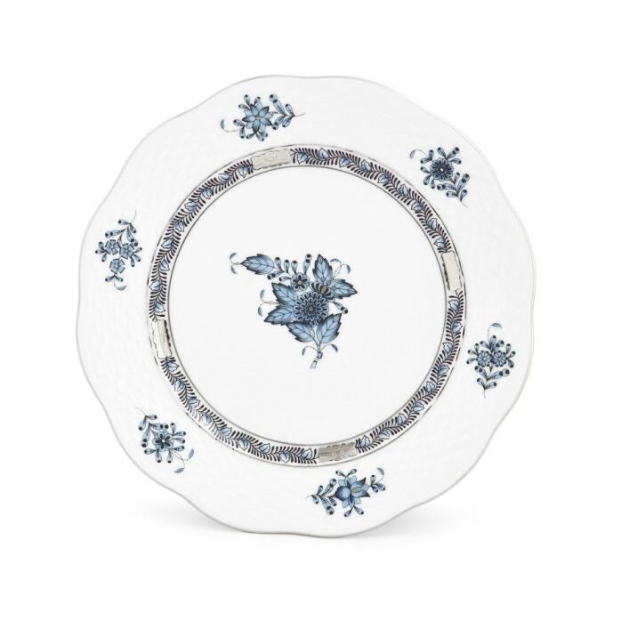 ヘレンド HEREND ATQ3-PT 00517000 アポニー・ターコイズプラチナ デザートプレート 皿 19cm APPONYI TURQUOISE PLATINUM
