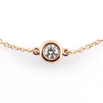 ティファニー Tiffany&CO 33943423 エルサ・ペレッティ ダイヤモンド バイ ザ ヤード ブレスレット 0.10ct 18KRG