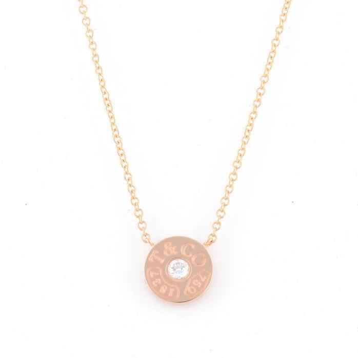 ティファニー Tiffany&CO 33286007 1837 サークル ペンダント ダイアモンド 16in 18KRG ネックレス