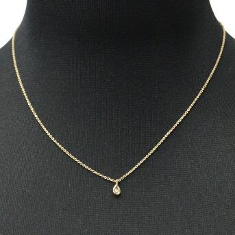 ティファニー Tiffany&CO 33400055 エルサ・ペレッティ ダイヤモンド バイ ザ ヤード ペンダント ペアシェイプ 0.07ct 16in 18KRG ネックレス