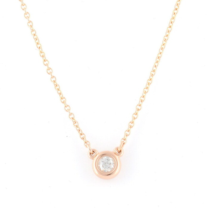 �ƥ��ե��ˡ� Tiffany&CO 31895928 ���륵���ڥ�åƥ� ��������� �Х� �� �䡼�� �ڥ����� 0.10ct 16in 18KRG �ͥå��쥹