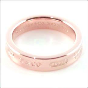 ティファニー   1837 ナローリング 指輪 RUBEDO ルベドメタル