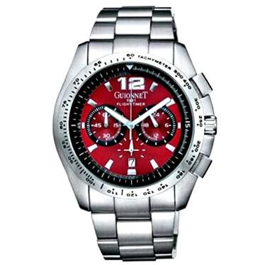 c8821d08fc GUIONNET ピエールギオネ フライトタイマー BR1500RE メンズ 腕時計【楽ギフ_包装】