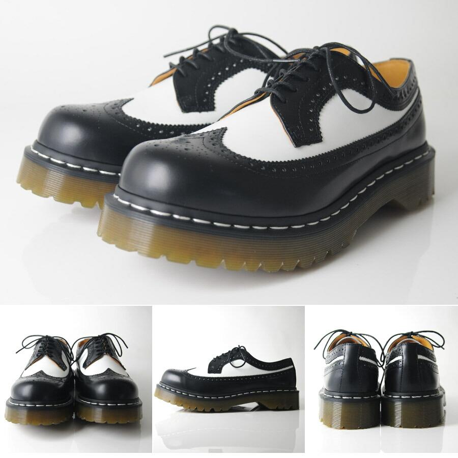 Dr Martens Black Wingtip Shoe