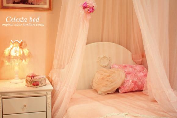 【日本製】オリジナル白家具シリーズチェレスタシングルベッド