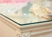 オリジナル白家具シリーズチェレスタ ガラストップ