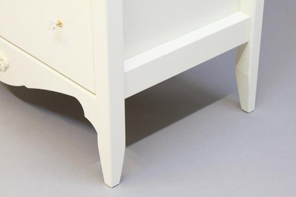 オリジナル白家具シリーズ <br>celesta チェレスタ N  80ハイチェスト 奥行き43.5cm/38.5cm/33cm 【ローズ エレガント カントリー フレンチ ホワイト 送料無料 日本製】