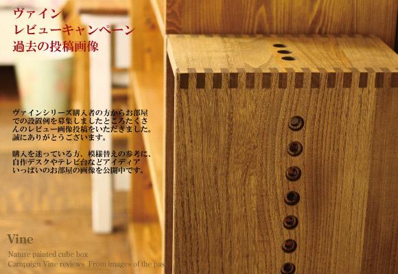 ヴァインレビューキャンペーン設置例投稿画像/キューブボックス・桐無垢材・木製収納家具・北欧・アジアン・Re-LSHOP(リエルショップ)