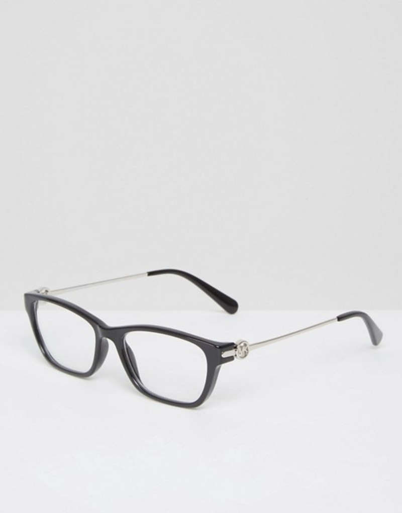b48ccf1a9c02 マイケルコース レディース サングラス・アイウェア アクセサリー Michael Kors Square Frame Optical Clear  Lens Glasses Black 送料無料 サイズ交換無料 マイケル ...