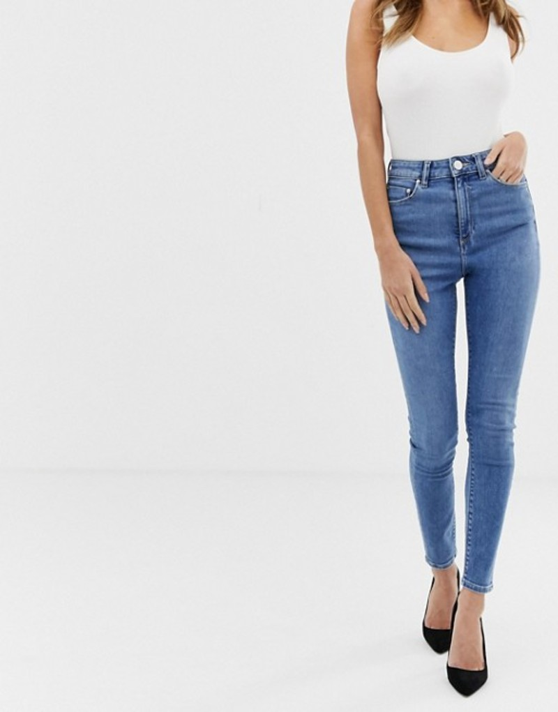 NEW LADIES TG BLUE RUCHED SKINNY JEANS SIZES 8 /& 12