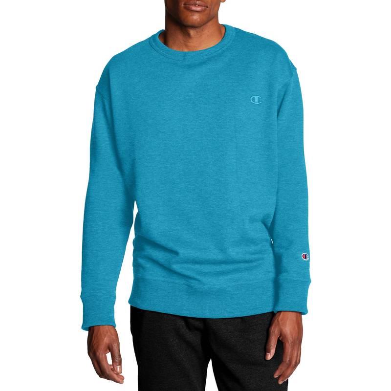 Champion Men/'s Big /& Tall Blue Crew Neck Sweatshirt