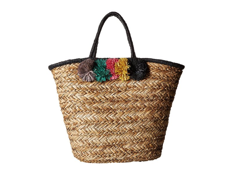 2c8cb4f29b6b サンディエゴハット レディース ハンドバッグ バッグ BSB1714 Pom Seagrass Tote Natural 送料無料 サイズ交換無料  サンディエゴハット レディース バッグ ...