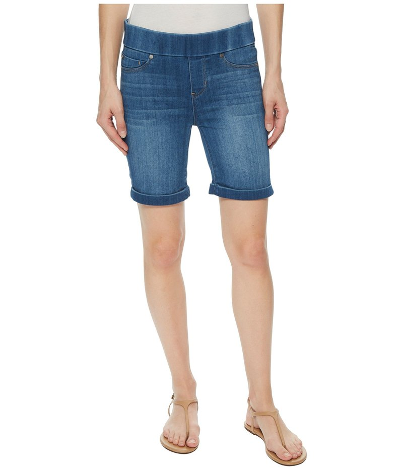 04b8f1640c1bc5 リバプール レディース ハーフパンツ・ショーツ ボトムス Roxie Pull-On Walking Shorts in Silky Soft  Denim in Lanier Mid Lanier Mid