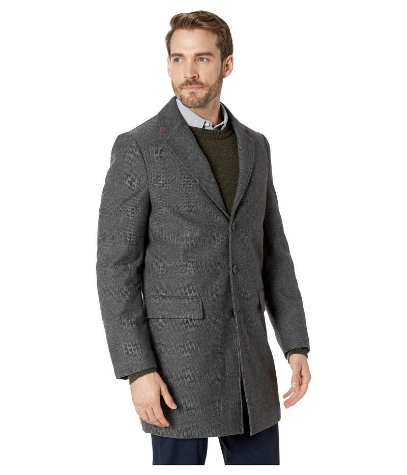 08d97a0c4d4b6 カルバンクライン メンズ コート アウター Herringbone Overcoat Charcoal