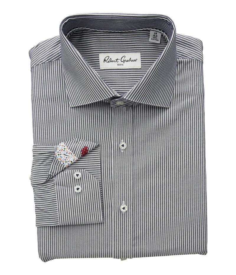 Robert Graham Mens White Desert Long Sleeve Button-Down Shirt