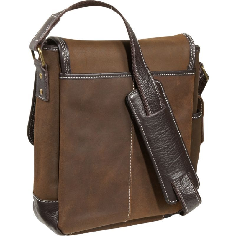 776247a48f9a ベリノ メンズ ショルダーバッグ バッグ The Outback Sling iPad / Netbook Messenger Brown
