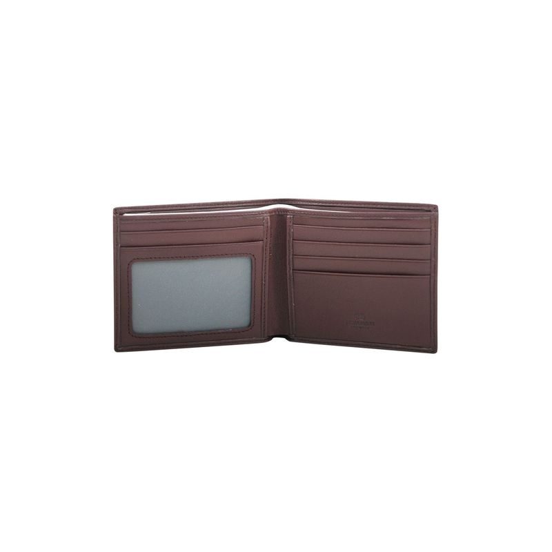 Dasein Mens Smooth Genuine Italian Leather Wallet Brown