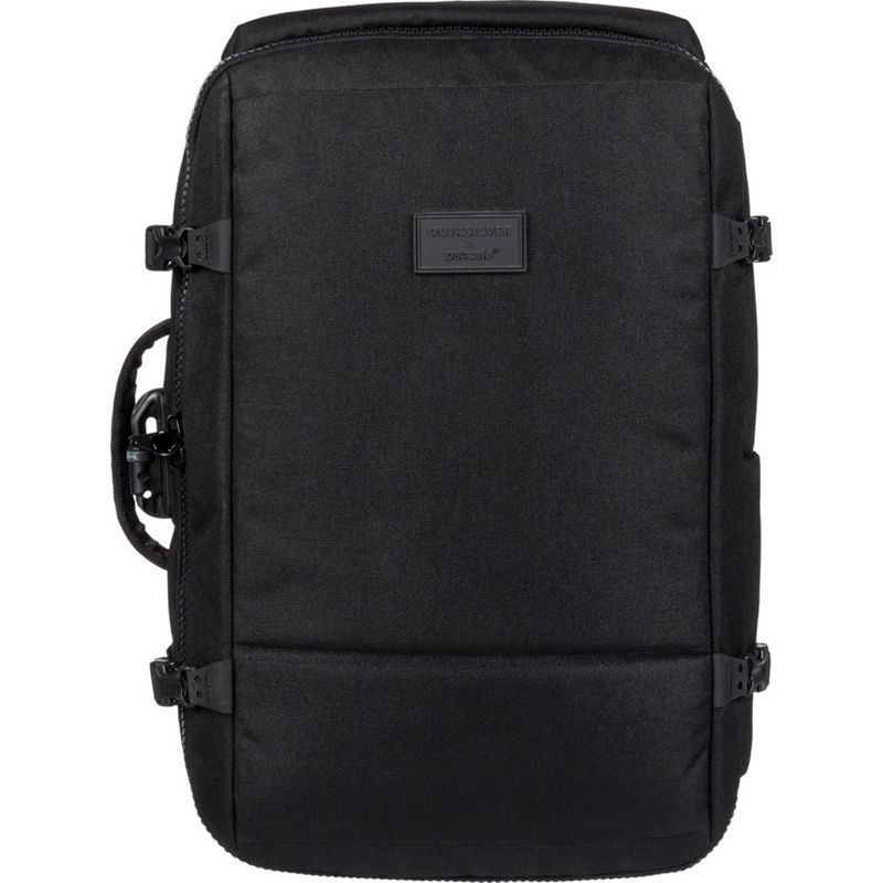 9b6eded49b3a パックセーフ メンズ バックパック·リュックサック バッグ Quiksilver x Pacsafe 40L Anti-Theft Carry-on  Travel Backpack Black 送料無料 サイズ交換無料 パック ...
