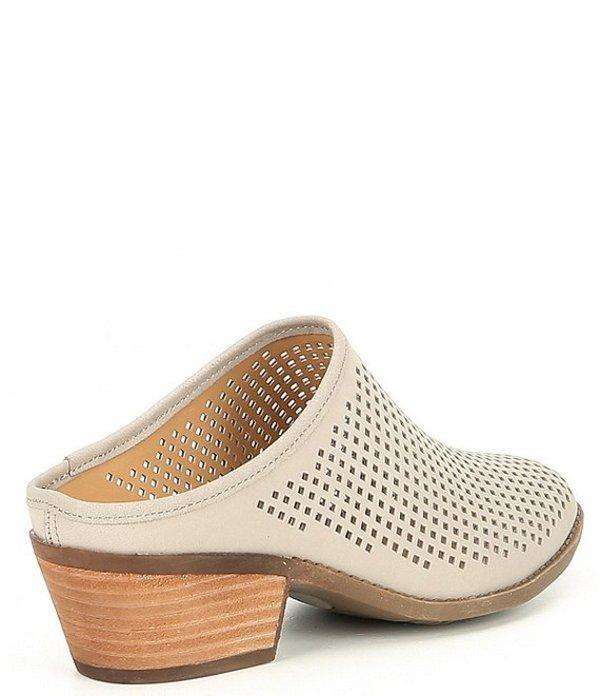 1bf434b2 Me toe Lady's sandals shoes by Adam Tucker Zara Nubuck Perforated Block  Heel Mules Light Grey