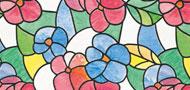 ステンドグラス柄 花A