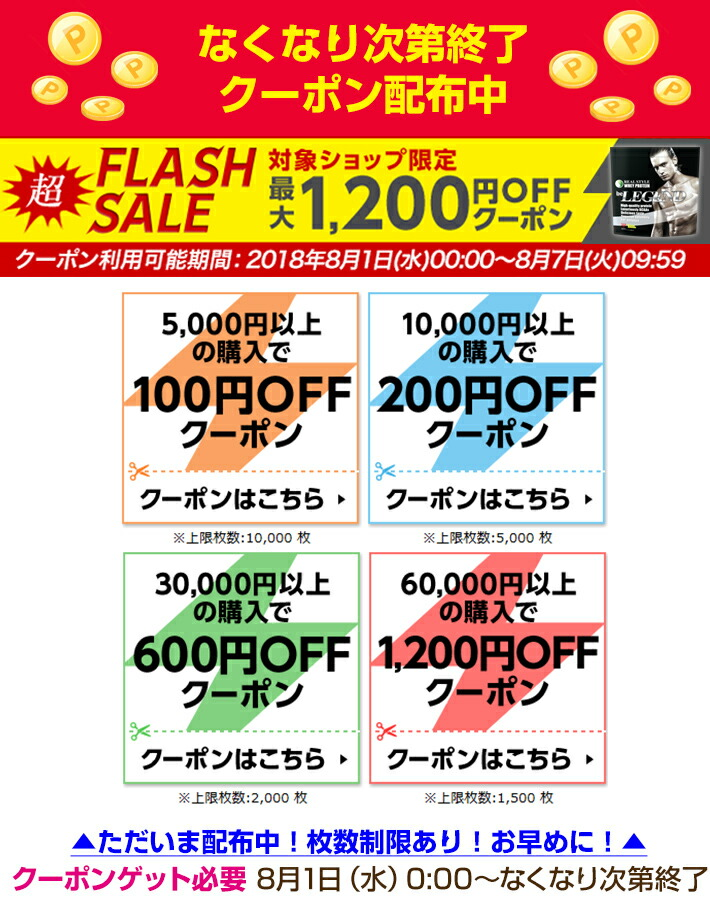 フラッシュクーポン最大1200円OFF<br />