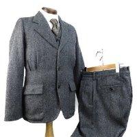 3ピース ヘリンボーン スーツ