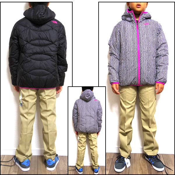 ec0f8c7287 For the THE NORTH FACE KIDS (the north face kids) USA planning! Overseas  models! Down jacket  Down GIRLS Reversible Moondoggy Jacket