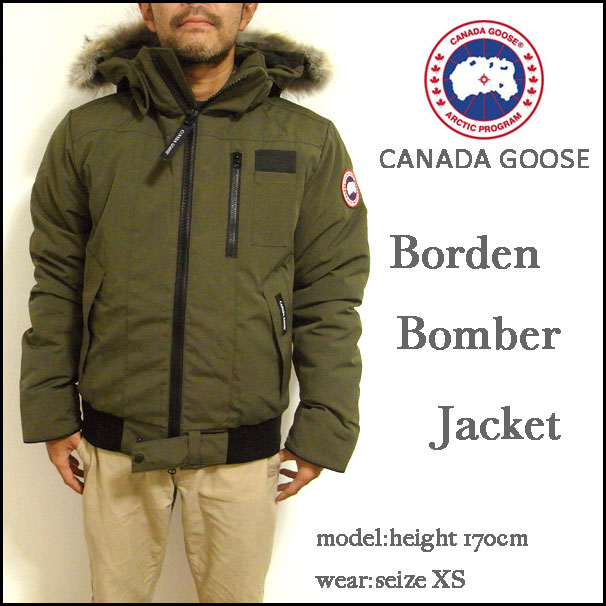 CANADA GOOSE, Canada goose and Constance ボマージャケット / down jacket /BORDEN BOMBER JACKET and green / 7968M/DOWN / cold weather