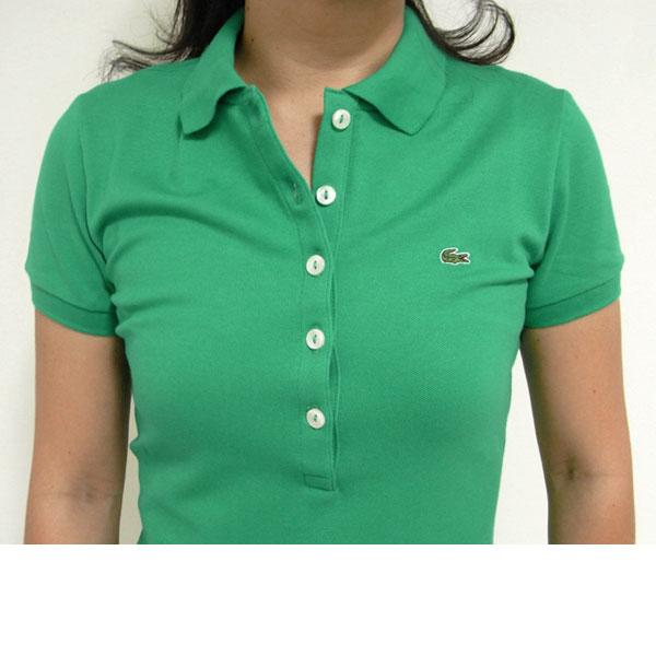 Reason rakuten global market lacoste lacoste women for Womens button up polo shirts
