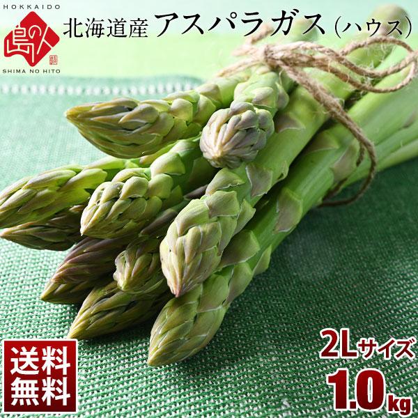 北海道産 グリーン アスパラガス 2Lサイズ 1.0kg 【送料無料】