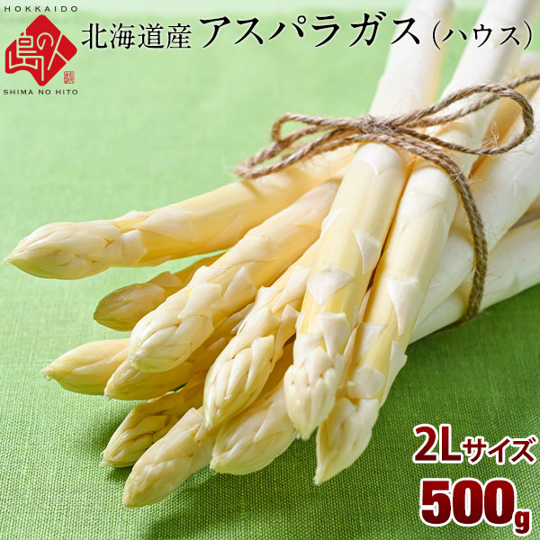 北海道産 ホワイトアスパラ 500g (2Lサイズ)