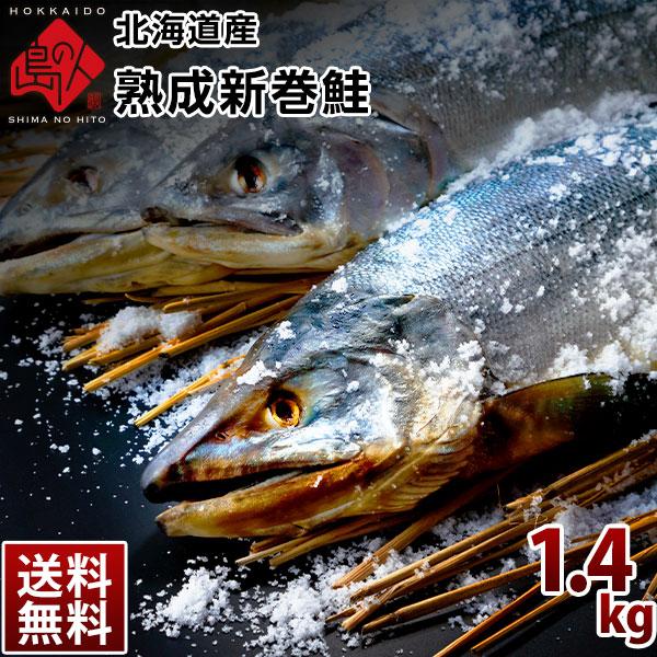北海道 日高産 新巻鮭 1.4-1.6kg前後(1尾)【送料無料】